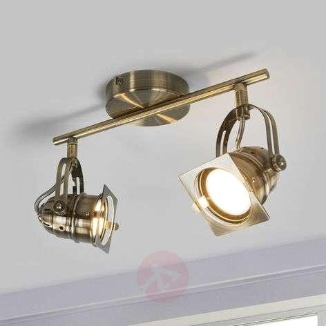Antique-brass-coloured LED ceiling lamp Janek