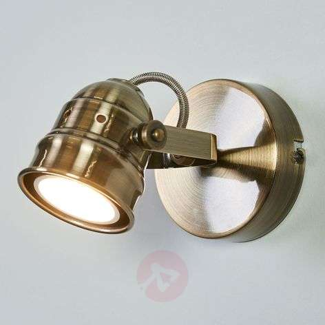 Antique-brass-coloured LED wall lamp Leonor-9639062-31