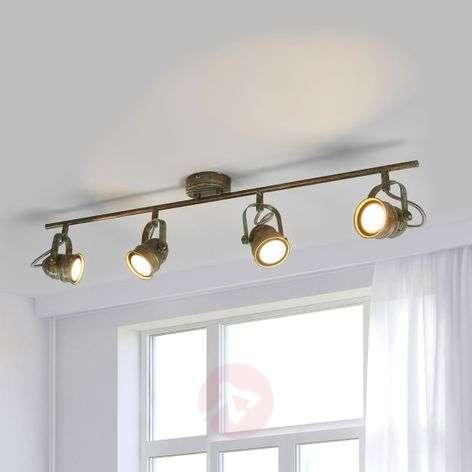 Antique-looking LED ceiling spotlight Leonor