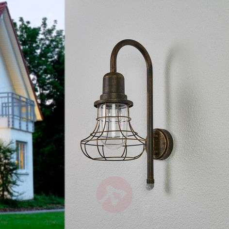 Antique outdoor wall lamp Bird with sensor-3006529-32