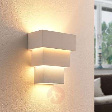 Antonella - effective LED wall lamp, plaster