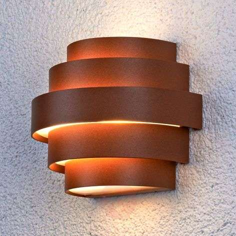 Appealing Enisa LED wall light for outdoors