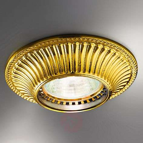 Appealing recessed light Milord, gold
