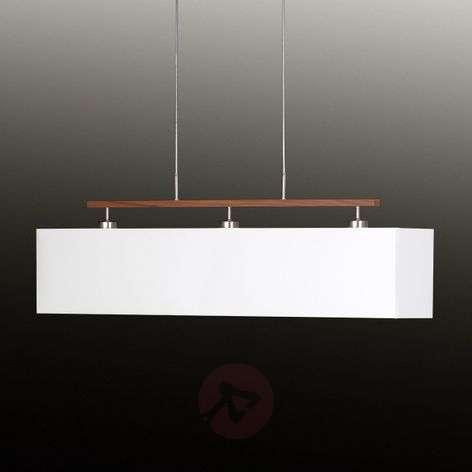 Appealing textile pendant lamp Casta white
