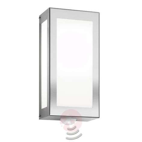 Aqua Rain stainless steel wall lamp with sensor