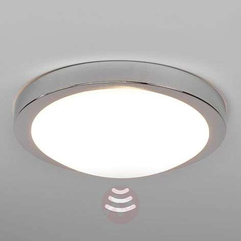 Aras LED bathroom ceiling lamp, sensor, chrome