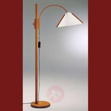 Arcade - elegant floor lamp with a wooden frame