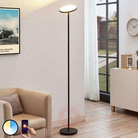 Arcchio Manon LED floor lamp, app control, black