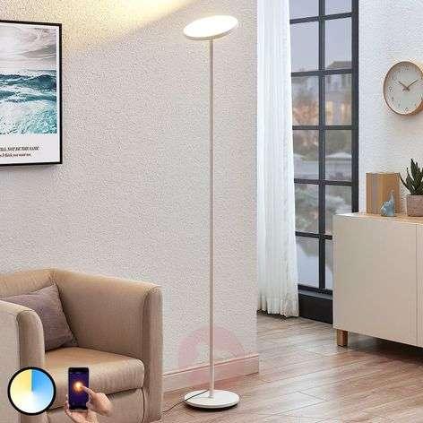 Arcchio Manon LED floor lamp, app control, white