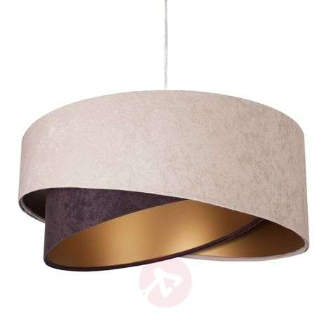 Arianna hanging light, layered look, two-tone