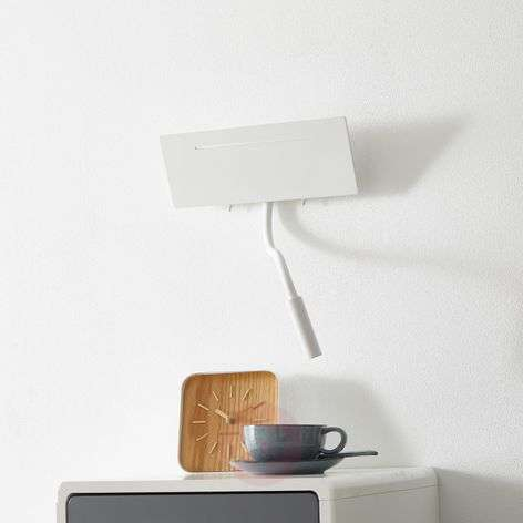 Ariel - white LED wall lamp with reading light
