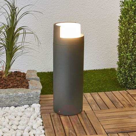 Arne LED pillar lamp in dark grey