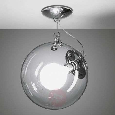 Artemide Miconos glass ceiling light in chrome