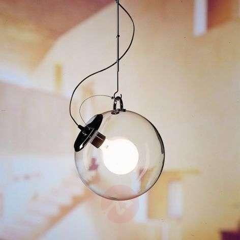 Artemide Miconos glass pendant light in chrome