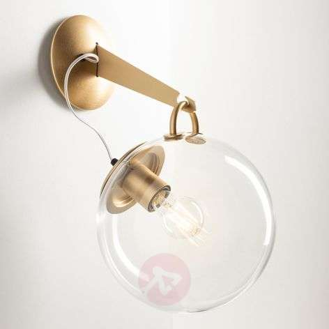 Artemide Miconos glass wall light in brass