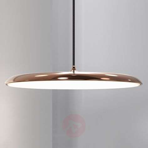 Artist 40 - flat LED hanging light, copper
