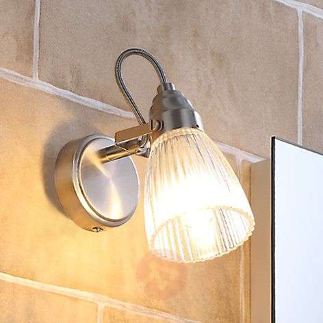 Attractive bathroom wall light Kara with LED, IP44