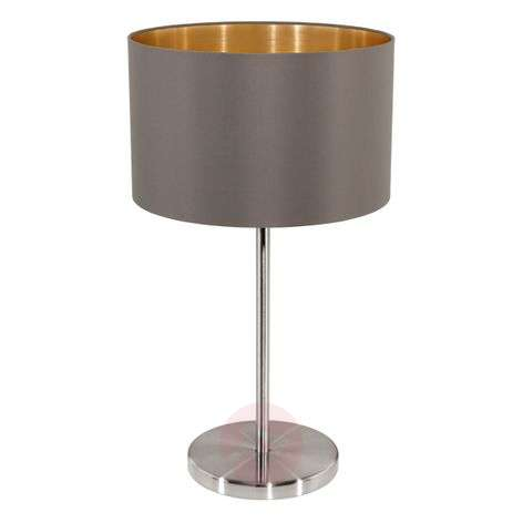 Attractive Carpi table lamp with fabric lampshade
