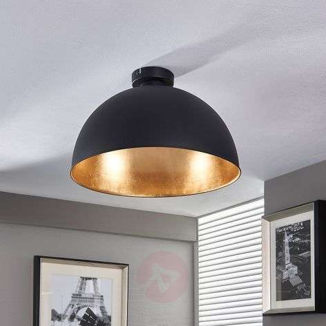 Attractive ceiling lamp Lya, black and gold-9620831-32