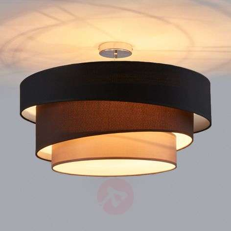 Attractive ceiling lamp Melia, black and brown