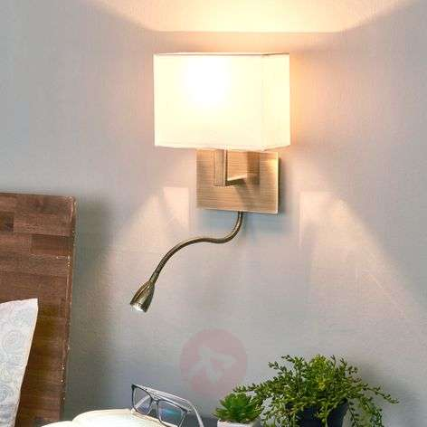 Attractive DARIO wall light with LED reading lamp