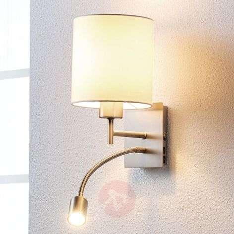 Attractive fabric wall lamp Camilo w reading light