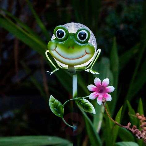 Attractive solar ground spike light Sicily Frog