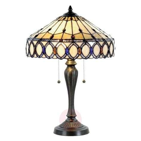 Attractive table lamp Fiera, Tiffany-style