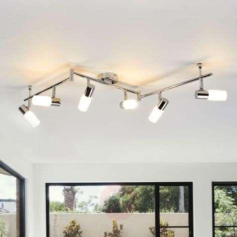 Augustina six-bulb LED ceiling light