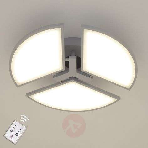 Aurela LED ceiling light silver with three bulbs