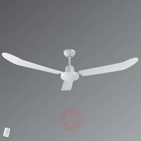 AVIATOR ceiling fan with wall switch, white