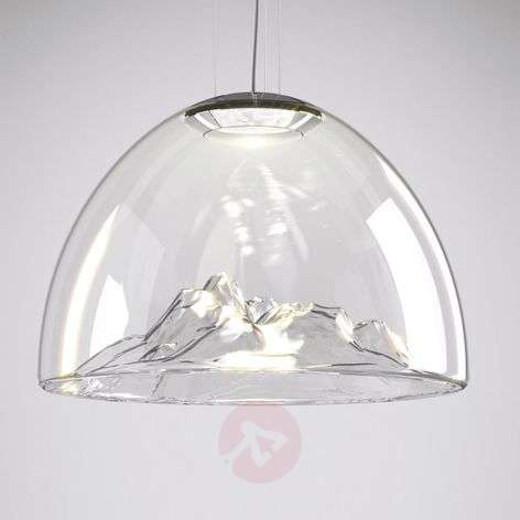 Axolight Mountain View hanging lamp clear-chrome