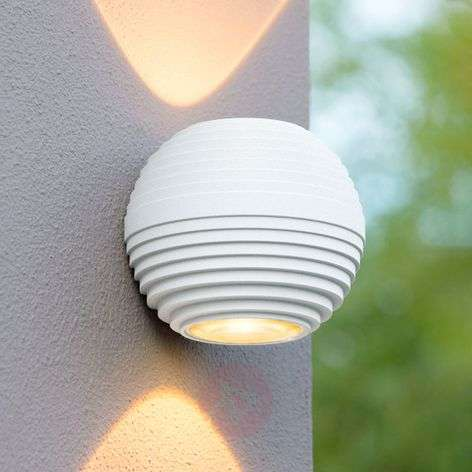Ayo - two-bulb LED outdoor wall lamp, white