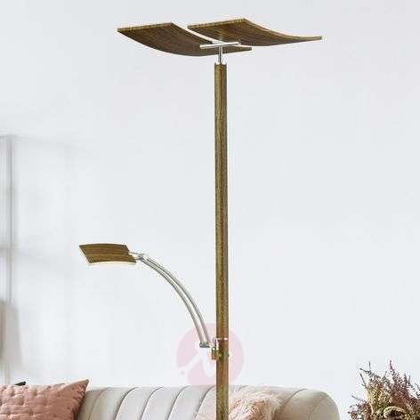 B-Leuchten Duo LED floor lamp with dimmer, wood