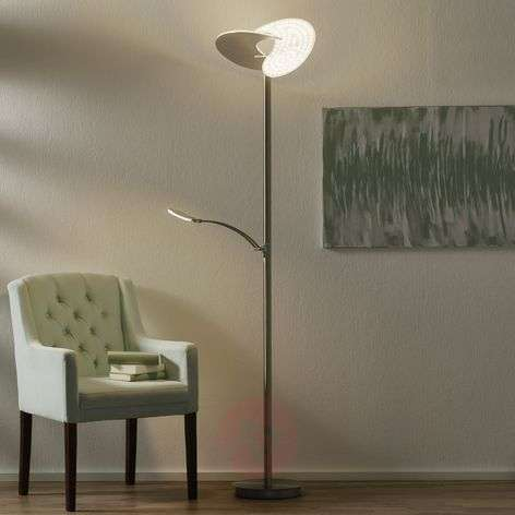 B-Leuchten Malibu LED floor lamp dimmable, nickel
