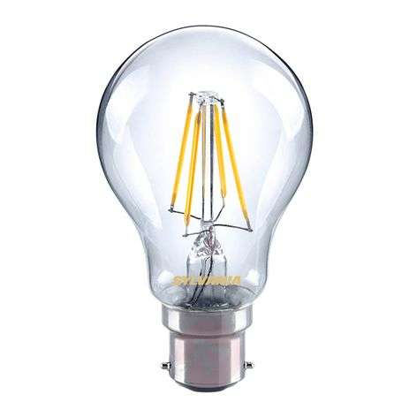 B22 4W 827 LED filament bulb, clear