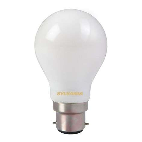 B22 7W 827 LED bulb, satin-finished