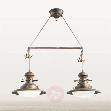 Baia pendant light, two-bulb