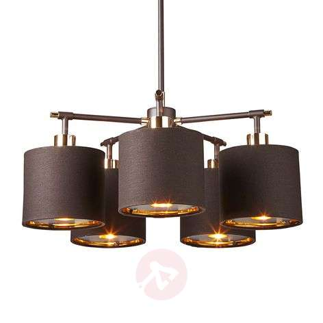 Balance five-bulb hanging light in brown-brass-3048450-31