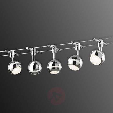 Baloubet LED cable system in chrome-9005057-31