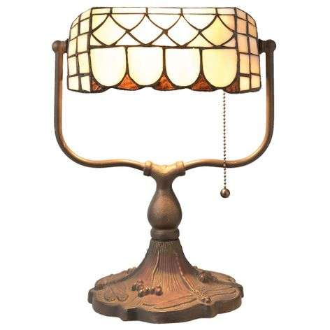 Banker lamp Matea in the Tiffany style