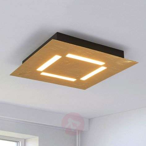 Banu - golden LED ceiling light, dimmable