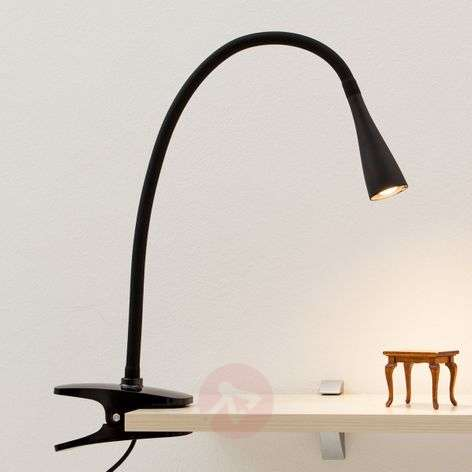 Baris Filigree LED Clip-on Lamp in Black-9643005-31