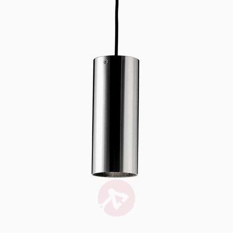 Basic cylindrical hanging light, matt nickel