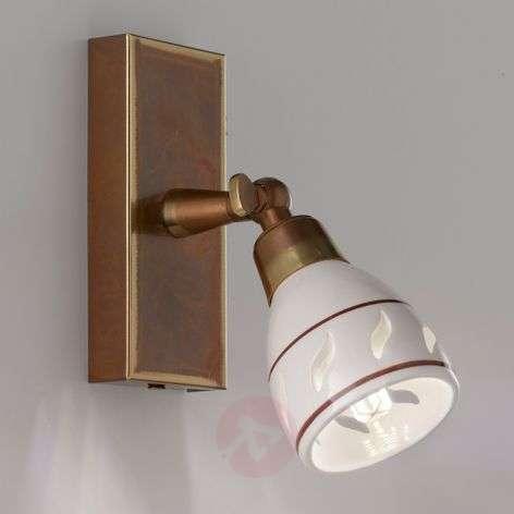 Bassano small wall spotlight, ceramic lampshade