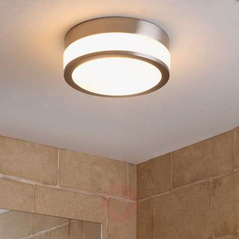 Bathroom ceiling light Flavi, matt nickel