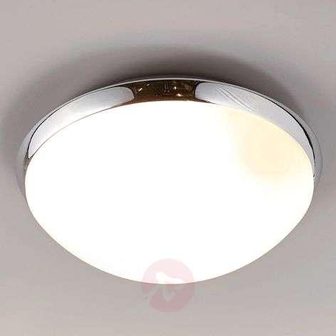 Bathroom ceiling light Mijo with chrome rim, IP44