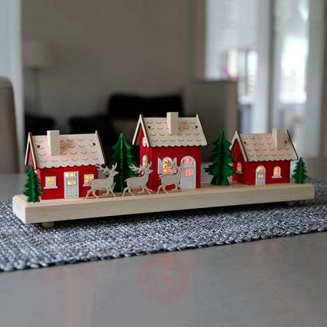 Battery-operated LED candle arch Village