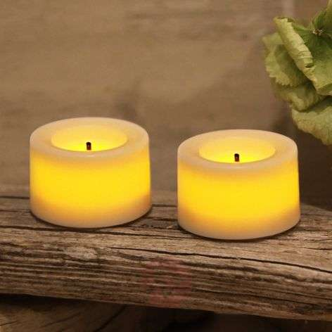 Battery-operated  LED tea light T-Light set of 2