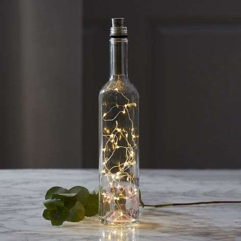 Battery-powered Dew Drops LED string lights 200cm